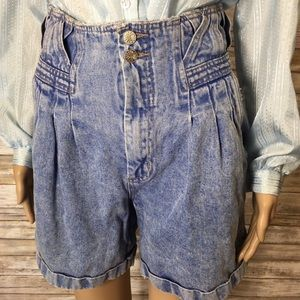 Vintage 90's denim high waisted shorts